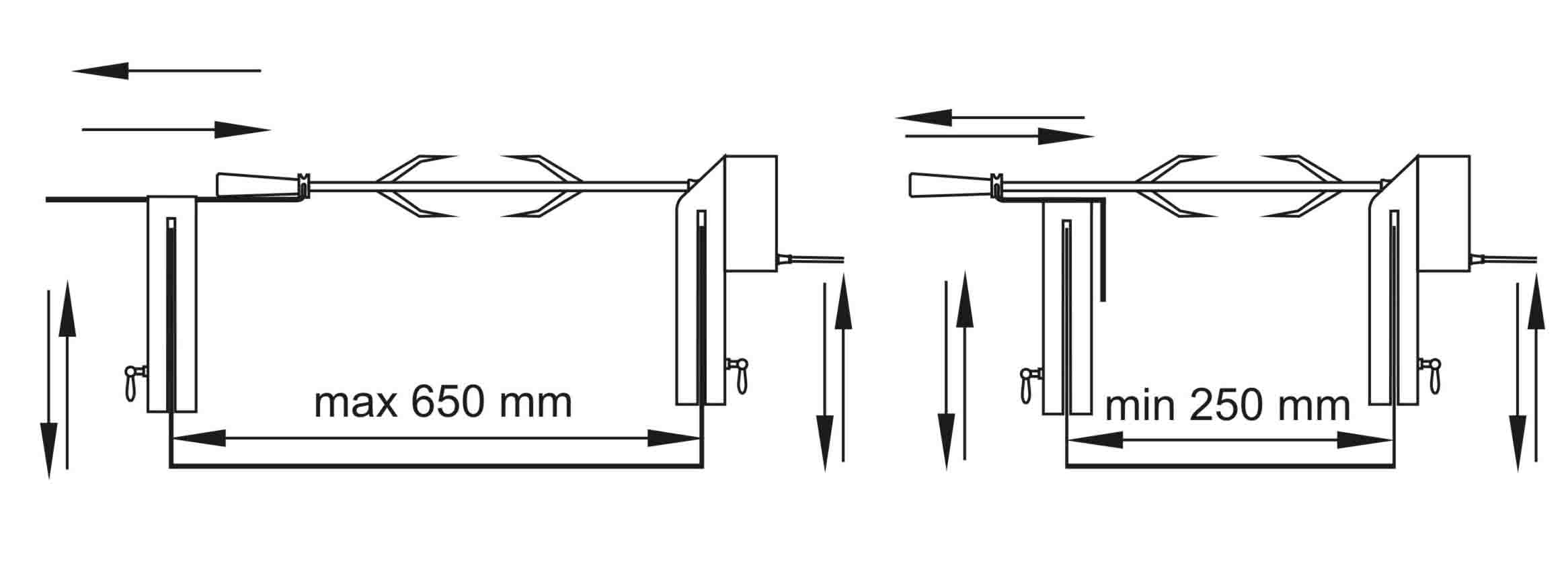 Установочные размеры электровертела